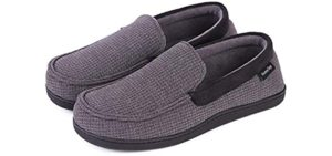 Hanes Men's Cotton Knit - Narrow Fit Slippers