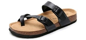 Real Fancy Men's Arizona - Cork Footbed Toe Loop Sandals