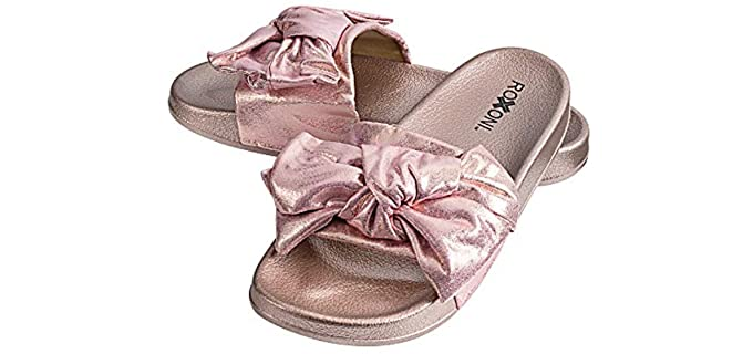 Roxoni Women's Bow Tie - Sandals with a Bow On Top