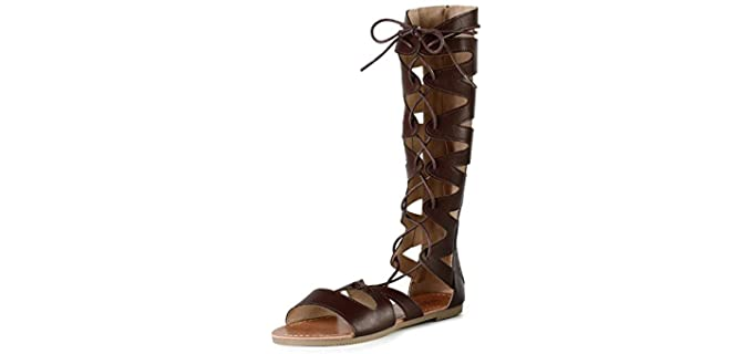 Sandalup Women's Knee HIgh - Gladiator Sandal