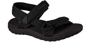 Skechers Men's Reggae-Tulo - Sports Sandals for Heel Spurs