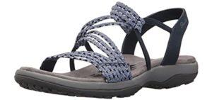 Skechers Women's Reggae Slim - Outdoor Sandal for A High Instep