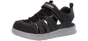 Skechers Girls's C-Flex Shine Star - Sandal for Toddlers