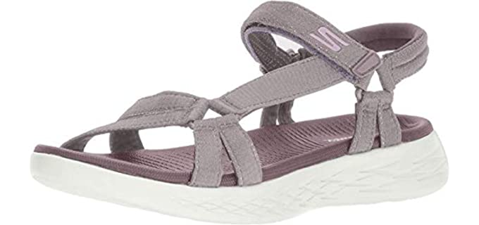 Skechers Women's On the Go 600 - Sporty Wide Width Wedge Sandal