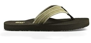 Teva Men's Mush - Cushioned Zero Drop Flip Flops