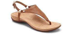 Vionic Women's Kirra - Orthopedic Leather Flip Flops