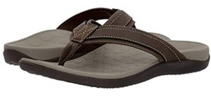 Vionic Men's Tide - Flip Flop Sandal for Heel Spurs