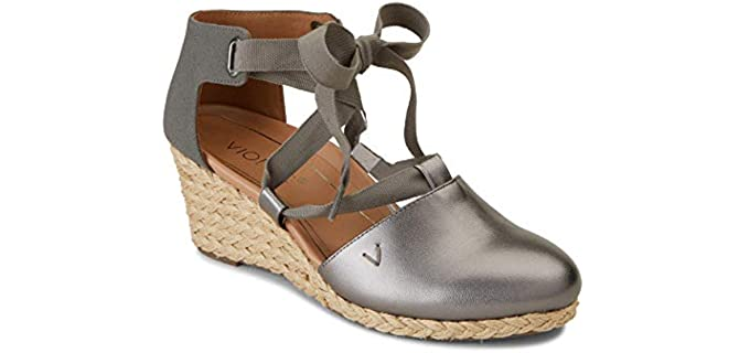 Vionic Women's Aruba Kaitlyn - Closed Toe Wedge Sandal