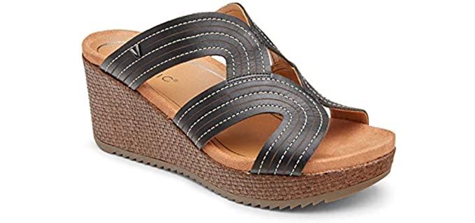 Vionic Women's Malorie - Wedge Sandal for Bunions