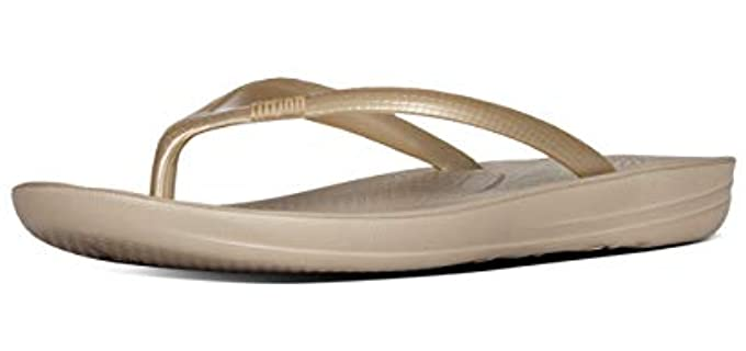 FitFlop Women's Iqushion - Flip Flops for Cruise Ships