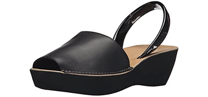 Kenneth Cole reaction Women's Fine Glass - Peep Toe Sandals for Long Toes