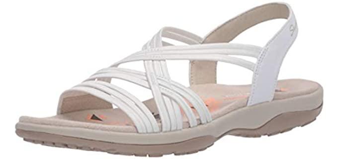 Skechers Women's Reggae Slim - Professional Sandals for Nurses