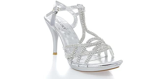 V-Luxury Women's Essential 74 - Luxury Sandals for Weddings