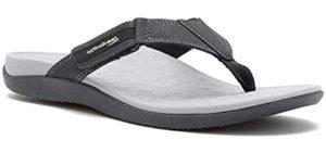 orthopedic flip flop brands