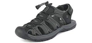 Dream Pairs Men's Adventurous - Podiatrist Recommended Outdoor Sandal