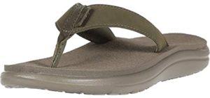 Teva Women's Voya Flip - Leather Flip Flop Sandal for Plantar Fasciitis