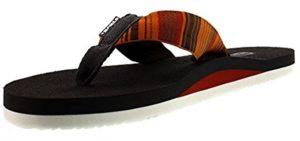 Teva Men's Mush 2 - Flip Flop Sandal for Plantar Fasciitis