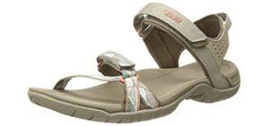 Teva Women's Verra - Casual Outdoor Sandals for Flat Feet