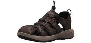 Skechers Men's Closed Toe - Closed Style Sandal for Extensor Tendinitis