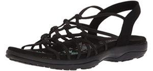 Skechers Women's Reggae Slim Forget Knotted - Closed Style Sandal for Extensor Tendinitis