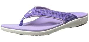 Spenco Women's Breeze - Flip Flop Sandal for Smelly Feet