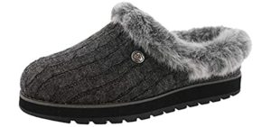 Skechers Women's Bobs Keepsakes Ice Angel - Cracked Heel Slippers