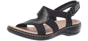 Clarks Women's Leisa Joy - Elegant Memory Foam Sandals