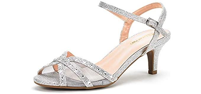 Dream pairs Women's Nina - Low Heel Wedding Sandals