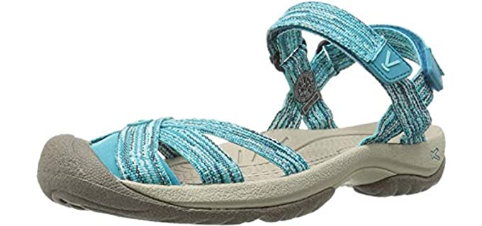 Keen Women's Bali Strap - Sporty Sandals for Long Toes