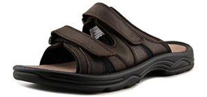 Propet Men's Vero - Leather Orthopedic Slide Sandals