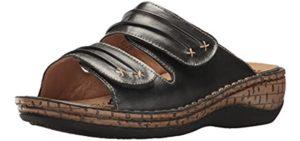 Propet Women's June - Leather Orthopedic Slide Sandals