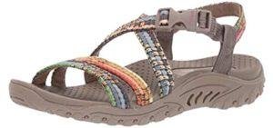 Skechers Women's Reggae Sew - Memory Foam Sandals