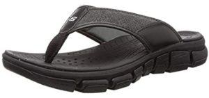 Skechers Men's Cali - Flip Flop Sandals for Plantar Fasciitis