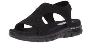 Skechers Women's Flex Appeal - Leadher Slide Sandals for Teachers