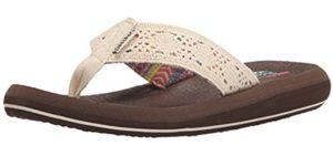 Skechers Women's Ridgewell - Flip Flop Sandals for Plantar Fasciitis
