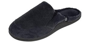 Isotoner Men's Microterry Clog - Slipper for Supination