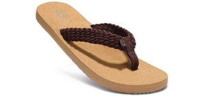 Aleader Women's Beach - Cork Flip Flops