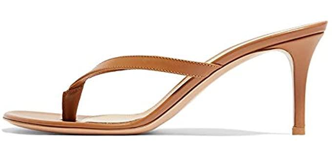 Amy Q Women's High - Heeled Flip Flops