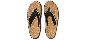 Zion Men's Rootswear - Classic Cork Flip Flops