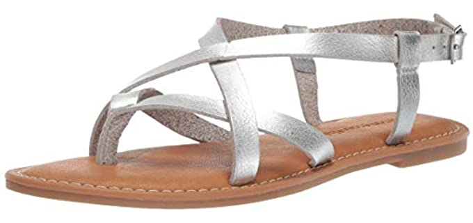 Amazon Essentials Women's Casual - Flat Sandals for Summer