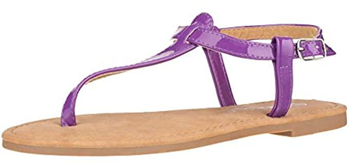 Cloverlay Women's Strappy - Summer Flat Sandals