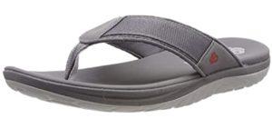 Clarks Men's Step Beat - Flip Flop for Narrow Feet