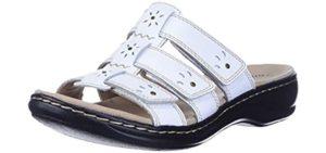 Clarks Women's Leisa Spring - Sandal for Plantar Fasciitis