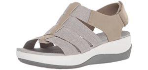 Clarks Women's Arla Shaylie - Sandal for Plantar Fasciitis