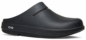 Oofos Men's OOCloog - Clog Sandal for Plantar Fasciitis