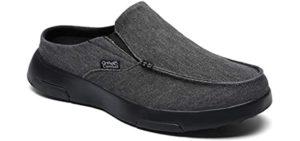 OrthoComfoot Men's Heel Pain - Slippers for Achilles Tendonitis