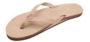 Rainbow Women's Leather - Flip Flops for Narrow Feet