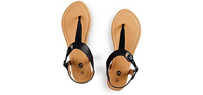 Rekayla Women's Flats - T-Strap Sandals