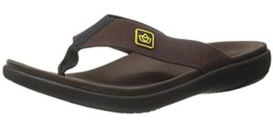 Spenco Men's Yumi Pure - Flip Flop Sandal for Recovery After Running