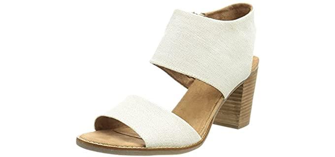 Toms Women's Majorca - Cut Out Sandals with a Block Heel